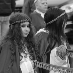 D7K_1656_epgs (Eric.Parker) Tags: easter 2016 goodfriday procession littleitaly stfrancis assisi church stfrancisofassisi college street jesus christ stationsofthecross christian christianity brassband toronto bw palm