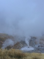 One of geysers in Yellowstone (lauriehan2008) Tags: geyser yellowstone wild nature hotspring park