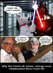 Why The Charles M. Schulz / George Lucas Collaboration Never Came Off (DarkJediKnight) Tags: star wars peanuts charlie brown snoopy beagle darth vader sith lightsaber humor parody spoof fake