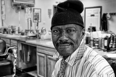 Barrick the Barber # 7 of 100 (alanroseman) Tags: city portraits northcarolina antiques selma streetportraits barrick northnorthcarolina barrickcoley
