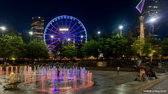 Atlanta, GA: Centennial Olympic Park Fountain (nabobswims) Tags: atlanta fountain night georgia us unitedstates hdr highdynamicrange centennialolympicpark nabob nabobswims