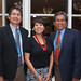 (L-R) Navajo Vice President Jonathan Nez, Kim Barber, NNWO administrative service officer and Navajo President Russell Begaye. NNWO welcome reception. Photo by Jared King.
