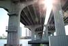 Shower of light (Marianna Gabrielyan) Tags: bridge light canon bokeh miami bayside rays circlesofconfusion xti canon1855mmf3556 400d