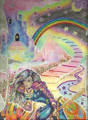 astralsan (regina11163) Tags: unreal fantasy dynamic combination adventure artreproduction rainbow stars astralprojection castle sword