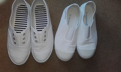 Which are the more girly of these plimsolls ? (eurimcoplimsoll) Tags: