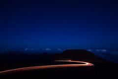 Blue Maui (melfoody) Tags: maui hawaii haleakala volcano lighttrails altitude longexposure night mountain car explore explored