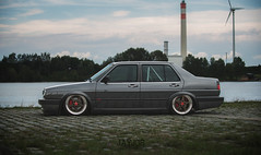 VW JETTA MK2 (JAYJOE.MEDIA) Tags: vw jetta mk2 low lower lowered lowlife stance stanced bagged airride static slammed oz ozwheels ozgang ozmito