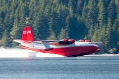 On the Slide (Jason Pineau) Tags: cflyl martin jrm3 mars coulson flying tankers water bomber firefighting boat seaplane floatplane sproat lake bc takeoff panning britishcolumbia vancouverisland