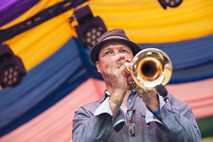 The Heels @ Mostly Jazz 1 (preynolds) Tags: hat festival concert birmingham raw dof stage gig livemusic trumpet noflash soul funk brass brassband moseley mark2 stagelights moseleyprivatepark tamron2470mm canon5dmarkii counteractmagazine mostlyjazz2016