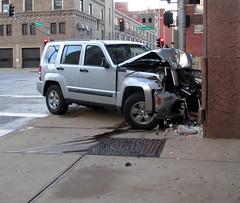 SUV Versus Building (*hajee) Tags: suv accident collision