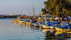 Boats at dusk (Paweł Szczepański) Tags: burgas bulgaria bg sozopol sal70200g sonyflickraward dockbay