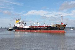 'Levana' Eastham Ferry 7th August 2016 (John Eyres) Tags: levana with tug zebrugge eastham ferry inward for stanlow ship canal 070816 manchestershipcanal mersey