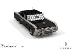 Lincoln Continental 1961 (lego911) Tags: lincoln continental 1961 1960s classic matrix film movie luxury ford motor company auto car moc model miniland lego lego911 ldd render cad povray usa america v8 chrome foitsop