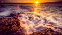 Sunshine Coast Sunset (Augmented Reality Images (Getty Contributor)) Tags: australia canon landscape leefilters light longexposure nationalpark noosa queensland rocks seaside sunset sunshine water waves