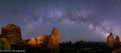 Night Skies (OJeffrey Photography) Tags: turretarch northwindowarch archesnationalpark anp nightsky nightscape milkyway stars starscape lightpainting nationalpark ojeffrey ojeffreyphotography jeffowens nikon d800