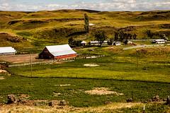 H U RANCH (Culinary Fool) Tags: palouse usa washington 2016 fence roadtrip brendajpederson travel wa photography hills culinaryfool farm ranch may barn travelwa 2470mm28