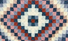 Diamond Pattern Quilt (edanalog) Tags: material patterns optical illusions