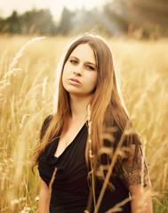 Field of Beauty II (Loft Haven) Tags: copyrighted field individuals lofthavenphotography longhair nature nikond300 outdoor portrait tamron2875f28 washington washougal beautiful