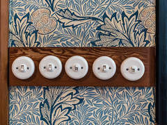 Five Switches (Ian_Matthews) Tags: historicbuildings redhouse switch electrical wallpaper panasonic