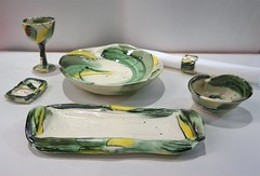 """A touch of green & yellow"" by Andrew Richards (Christine Cox @ potfest) Tags: dinnerforone potfestinthepens penrith cumbria pottersmarket ceramic"