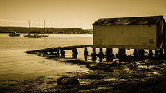 The boat shed (Merrillie) Tags: saratoga davistown wharf boatshed nswcentralcoast newsouthwales sea nsw brisbanewater centralcoastnsw blackandwhite nature ramp waterscape boats centralcoast bay australia