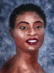 Adina Porter, Portrait By Artist Andr (Andre Joseph Martin) Tags: art trueblood underground