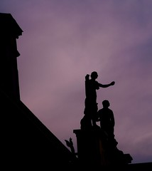On the roof / Na dachu (dochtuir) Tags: wilanw palace baroque barok architecture architektura rzeba sculpture evening wieczr
