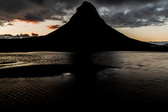 Lonely Mountain  (Fabian F_) Tags: iceland island mountain kirkjufell water river evening sunset clouds mystic lordoftherings lotr shadow dark