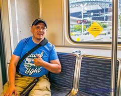 W/ @AvgeekJoe Travel Light T-Shirt During Seafair (AvgeekJoe) Tags: centrallink d5300 dslr importedkeywordtags lightrail nikon nikond5300 places seattle soundtransit soundtransitcentrallink train travellight usa washingtonstate masstransit rail transit urbanrail