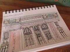 Columbus Public Library (terryhadalittlelamb) Tags: urban sketchers meetup columbus public library ohio oh drawing