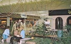The Mall, Horseheads, New York (SwellMap) Tags: postcard vintage retro pc chrome 50s 60s sixties fifties roadside midcentury populuxe atomicage nostalgia americana advertising coldwar suburbia consumer babyboomer kitsch spaceage design style googie architecture mall store plaza