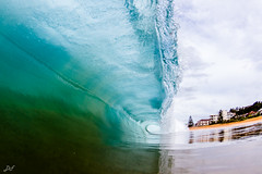 Swoop (David Field (Sydney)) Tags: swoop perfect clear blue water shallow thick heavy power tube barrel swell wave surf sea ocean beach nsw ausralia sydney northernbeaches aquatech canon winter nature travel amazing beauty