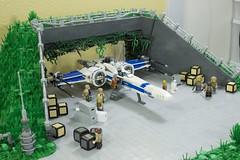LEGO Star Wars TFA Resistance Base on D'Qar MOC (LegoSpencer11) Tags: lego star wars force awakens tfa resistance rebels base dqar