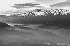 Pollution (JorgePets Photography) Tags: santiago chile smog pollution canon 5diii bw andes moun mountain city flickrtravelaward