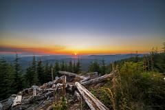 Sunset from Pilchuck ([nosamk] KMason photography) Tags: clouds composite evergreens fog forest landscape mountpilchuck sky summer sunrays sunset