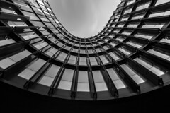 - Urban Backyard Look UP - (Mr. LookUP) Tags: blackandwithe blackwhite bw building office 2015 canon wideangle unique architecture urban urbanphotography photography urbanbackyard lookup