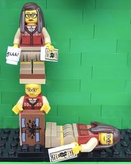 L (Laurene J.) Tags: lego bricksbythebay bbtb2016 minifigurealphabet minifigure minifigs legoalphabet alphabet pilobolusalphabet pilobolus lettering bbtb 2016 bricksofcharacter librarian