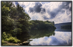 Bear Mountain Lake (jsleighton) Tags: lake sky reflections trees rocks bearmountain