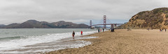 Baker Beach panorama (mojave955) Tags: california   unitedstatesofamerica northamerica usa westcoast    sanfrancisco  bakerbeach   goldengatebridge panorama  norcal northerncalifornia canon 7dmarkii