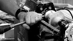 Hands (patrick_milan) Tags: hands craft vintage old vieux mtiers forum noiretblanc blackandwhite noir blanc monochrome nb bw black white street rue people personne gens streetview