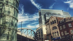 Looking at the sky (DiSorDerINaMirrOR) Tags: cityoflondon london londoncity uk capital city architecture sky buildings clouds modern historical travelling discover
