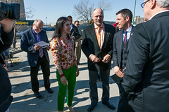 2015-05-04 Minister Crothers chats with Mayor Bowman