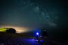 Fishing under the milkyway (kayak4bigbass) Tags: beach dark stars fishing nikon kitlens dorset 1855mm 1855 18 freshwater 18mm milkyway d5200
