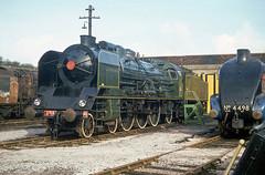 SNCF 231.K22 at Steamtown, Carnforth. 25th March 1978 (Brit 70013 fan) Tags: france la pacific railway steam lancashire 1978 a4 steamengine steamtown lafrance sncf carnforth 4498 sirnigelgresley 231k22 exsncf