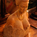 Woman face carving