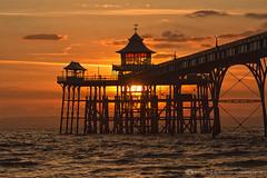 CLEVEDON PIER (mark_rutley) Tags: sunset sea sky seascape silhouette pier victorian somerset clevedon westcountry northsomerset clevedonpier
