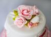 Roses and ruffles christening cake (artcakery) Tags: sleeping roses baby christeningcake