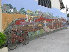 IMG_0860 (adriaan04521) Tags: red argentina bike wall buenosaires rood tigre