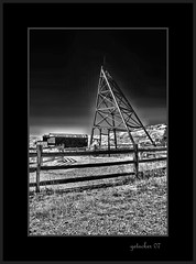 Lines and Angles - Victor CO (the Gallopping Geezer 3.8 million + views....) Tags: old bw white mountain black history abandoned canon ir rockies blackwhite colorado mine decay roadtrip structure historic victor mining faded worn co rockymountain weathered decayed geezer 2007 corel headframe west07102pt1