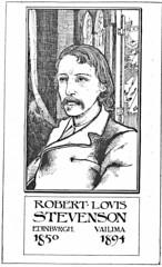 Robert Louis Stevenson portrait by Charles Robinson (katinthecupboard) Tags: artnouveau poems rls 1895 vintagechildrensillustrations vintagechildrenspoetry